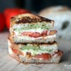 Caprese Panini with Tomato, Pesto & Mozzarella