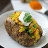 Samosa Stuffed Baked Potatoes