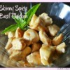 Skinny Spicy Basil Chicken