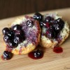 Banana Bread with Warm Blueberry Compote