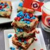 Chocolate & Peanut Butter M&M Cheesecake Bars
