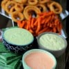 Perfect Game Day Dips- Sriracha Aioli, Avocado Ranch, and Basil Aioli