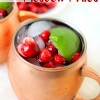 4 Ingredient Cranberry Moscow Mules