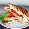 Roasted Red Pepper Basil Pesto Grilled Cheese