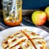 Waffle Iron Caramel Apple Pies