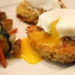 Quinoa Cakes with Poached Eggs & Roasted Vegetables