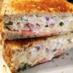 Provolone White Bean Grilled Panini with Basil & Tomato