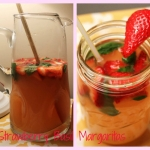 Super Easy Strawberry Basil Margaritas