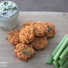 Buffalo Quinoa Bites with Bleu Cheese Dip