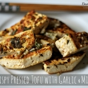 Crispy Pressed Tofu with Garlic & Mint