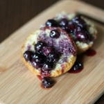 Warm Blueberry Compote Banana Bread