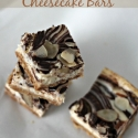 Chocolate Almond Cheesecake Bars
