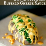Baked Potatoes with Broccoli & Buffalo Cheese Sauce