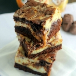 Milky Way Caramel Cheesecake Brownies