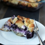 Overnight Blueberry Stuffed French Toast