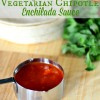 Easy Homemade Vegetarian Chipotle Enchilada Sauce