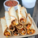Black Bean & Sweet Potato Baked Flautas