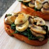 Guest Post: Spinach and Mushroom Bruschetta
