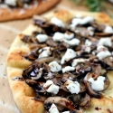Mushroom & Goat Cheese Flatbread with Balsamic Glaze