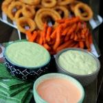Perfect Game Day Dips- Sriracha Aioli, Avocado Ranch, and Basil Aioli
