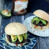 Spicy Black Bean Barbecue Avocado Burgers