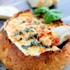 Cheesy Pizza Dip Bread Bowl