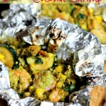 Grilled Lime Coconut Shrimp Foil Packs