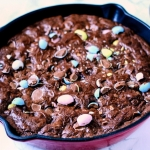 Cadbury Mini Egg Skillet Brownies
