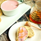 Strawberry Cream Cheese with Honey Drizzle