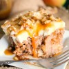 Caramel Apple Poke Cake (easy cake mix recipe)
