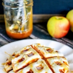 Waffle Iron Caramel Apple Pies (10 minute recipe)