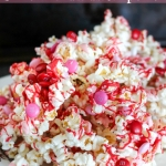 Valentine's Day Chocolate M&M Popcorn