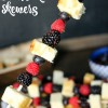 Three Berry Shortcake Skewers