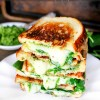 Spinach Pesto Grilled Cheese
