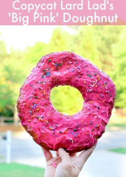 Lard Lad's Big Pink Doughnut {Copycat}