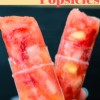 Boozy Strawberry Pineapple Popsicles