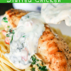 Creamy Stuffed Chicken (Spinach & Roasted Red Peppers)