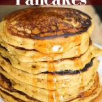 Pumpkin Pancakes (healthier with Greek yogurt)