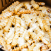 Air Fryer Cheese Fries (2 ingredients)