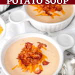 Instant Pot Potato Soup (with bacon and cheese)