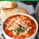 Healthy Instant Pot Lasagna Soup (vegetarian and meat option)