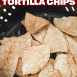 Air Fryer Tortilla Chips with Red Gold Salsa