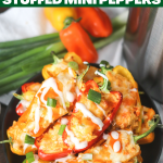 Buffalo Chicken Stuffed Mini Peppers
