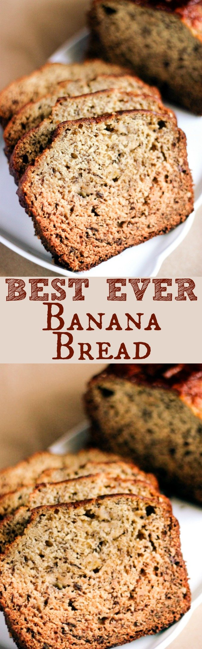 This is the Best Banana Bread EVER!!! It's moist, delicious, and SO easy to make! With only a handful of ingredients needed, this whips up in no time!