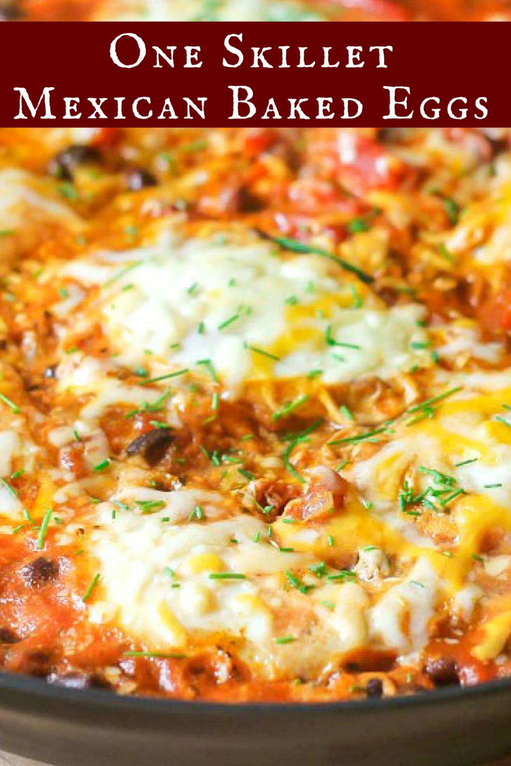mexican baked eggs in one skillet