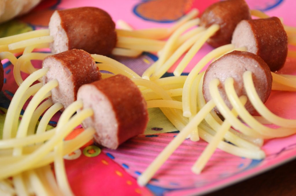 Spaghetti Hot Dogs…a kid's meal!