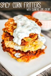 Corn Fritter with Cilantro Lime Sauce-3