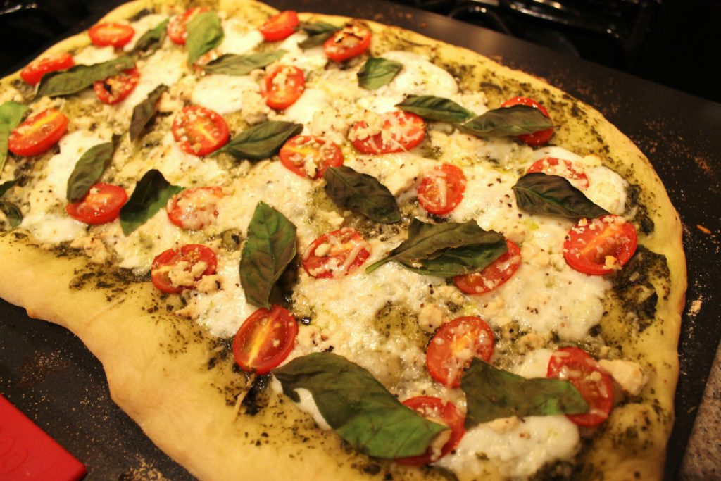 Feta Pesto Margarita Pizza