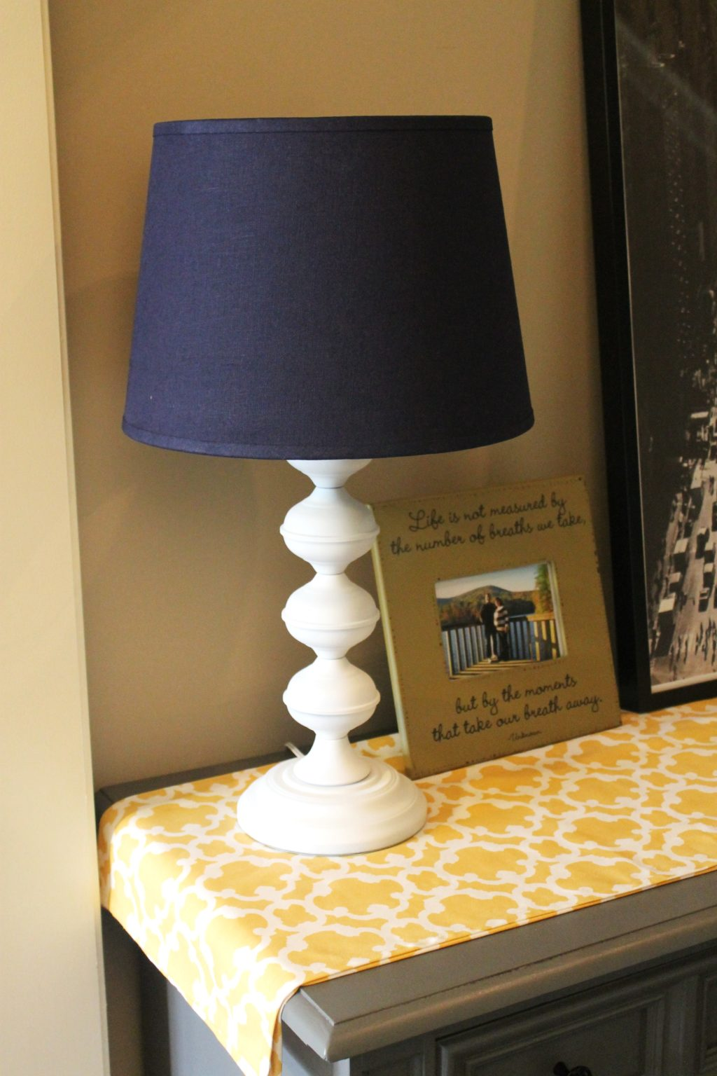 $2 Lamp Refinished and a Serious Shade Struggle….