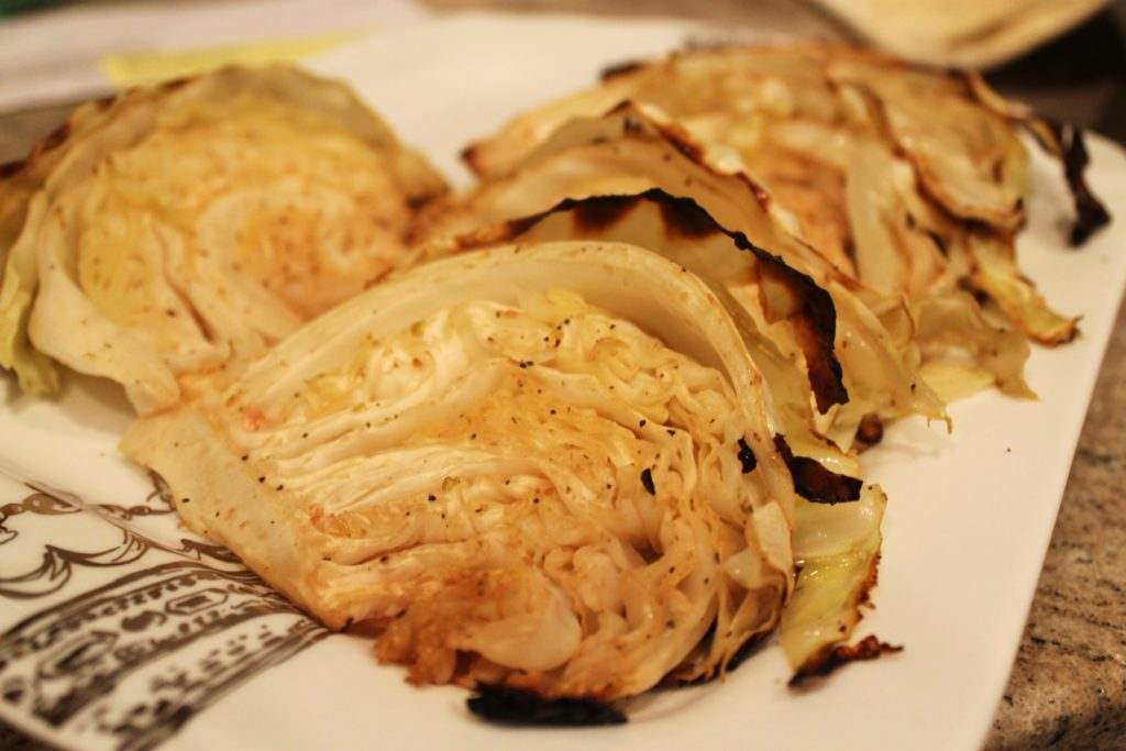 Caesar Roasted Cabbage